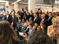 Zdjęcie przedstawia prezydenta Andrzeja Dudę oraz prezesa UPEMI na wystawie rolniczej