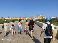 Zdjęcie przedstawiające spacerujących studentów