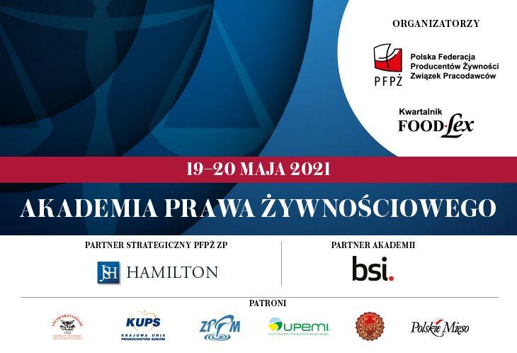 Akademia Prawa Żywnościowego 19-20 maja 2021 r.